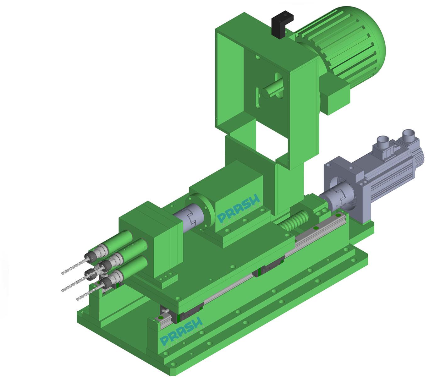 Auto Feed Multi Spindle Drilling Head-Servo Slide Type